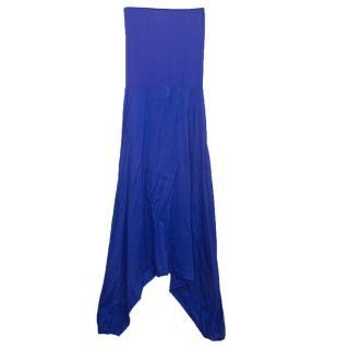 Eres cobalt blue strapless jumpsuit
