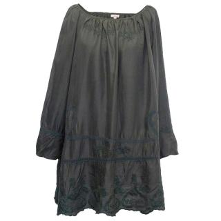 P.A.R.O.S.H Grey silk tunic