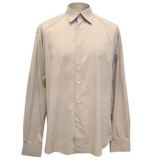 Prada men's taupe shirt