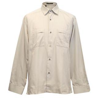 Gucci men's beige shirt
