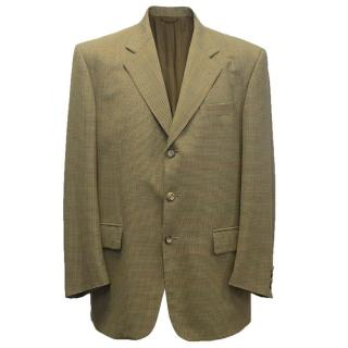 Loro Piana men's mustard checked blazer