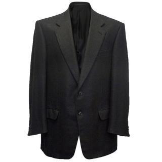 Ermenegildo Zegna Mens silk & cashmere charcoal blazer