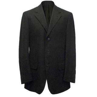 Ermenegildo Zegna men's black blazer