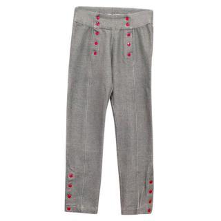 Raspberry Plum girl's high waisted trousers