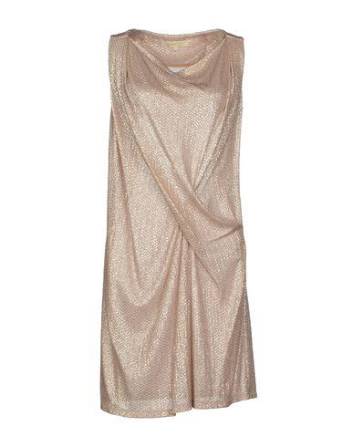 Vanessa Bruno pink metallic gathered front sleeveless dress