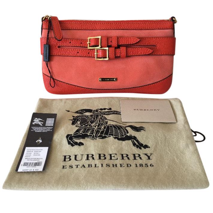Burberry Bridle Housecheck Brights Peyton Wristlet  bec1bc6e39984