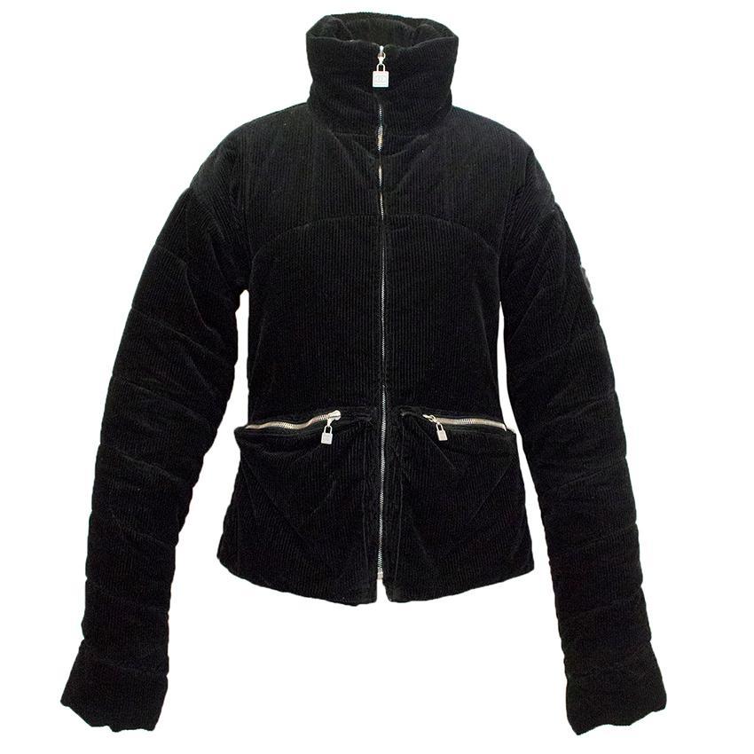 Chanel corduroy black jacket.
