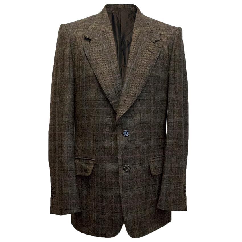 Yves Saint Laurent Brown checked blazer