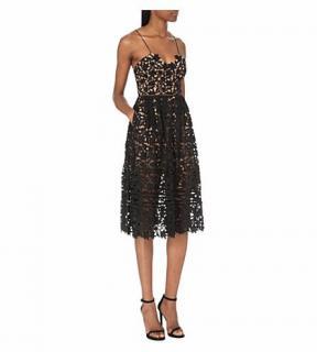 Self Portrait Black Azaelea Lace Dress