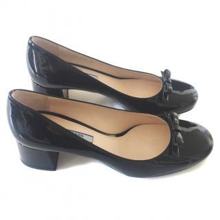 Prada Patent Bow Shoes