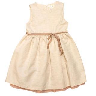 Marie Chantal cream layered jacquard dress