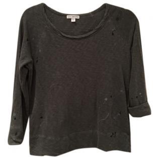 James Perse Grey Paint Splatter Sweatshirt