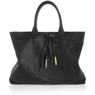 Burberry Prorsum Black Deerskin Grainy Leather Bag with separate Strap