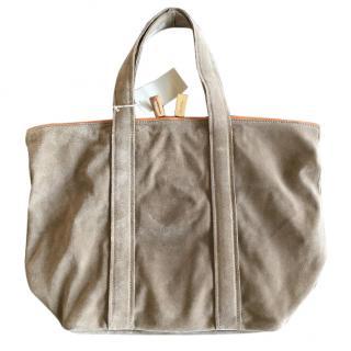Vanessa Bruno beige suede tote shopper bag