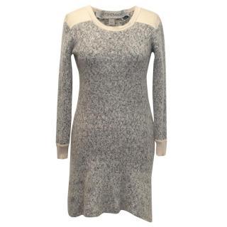 Sportmax mohair/wool grey shift dress