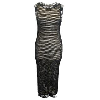 Moschino black mesh dress