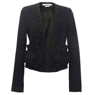Givenchy Black Ruffle Jacket