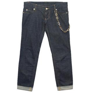 DSquared blue jeans with chain