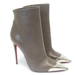 Christian Louboutin Taupe Stiletto Boots