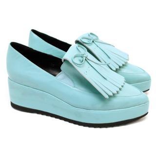Emma Cook blue platform loafers