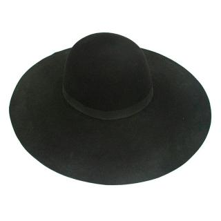 Mason Michel Black wide rimmed hat