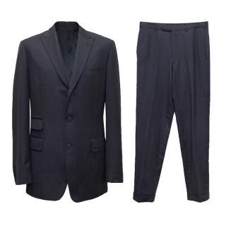 Versace Blue Tailored Suit