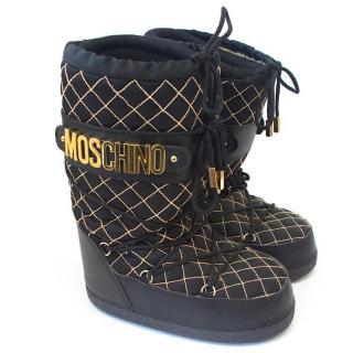 Moschino black moon boots