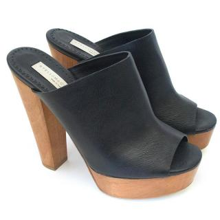 Stella McCartney Wooden platform mules sliders