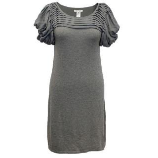 Alice and Olivia Grey cashmere/silk knit dress