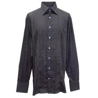 Angelo Galasso gunmetal long sleeve shirt