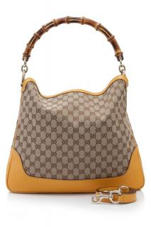 Gucci GG Canvas Diana Bamboo Top Handle Bag