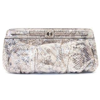 Zagliani silver clutch