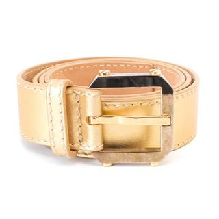 Celine gold leather belt