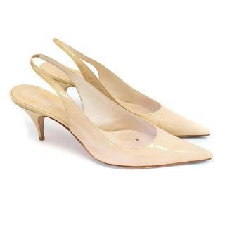 Dior cream pointed heels