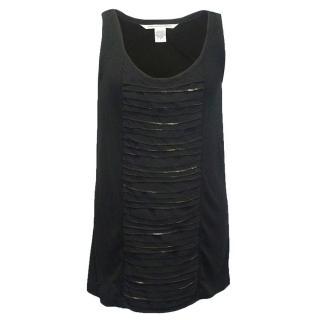 Diane von Furstenberg black sleeveless top