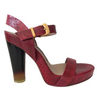 Ferragamo Atelier Chunky Heel Platform Sandals