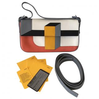 Fendi Colour Block Baguette Bag