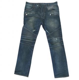 Balmain Men's Regular Fit Biker Jeans