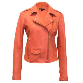 Theory Coral leather jacket