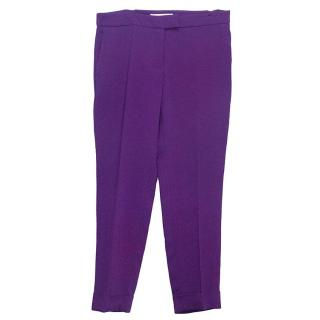 Stella McCartney purple cropped trousers