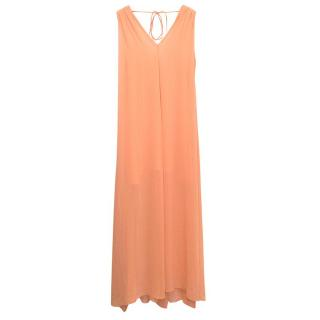 Pinko peach sleeveless maxi dress