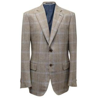 Pal Zileri checked wool blend blazer