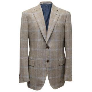 Pal Zileri checked wool blend blazer