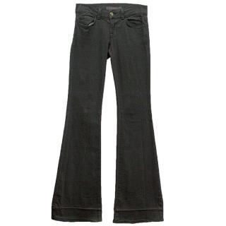 J Brand grey flare jeans