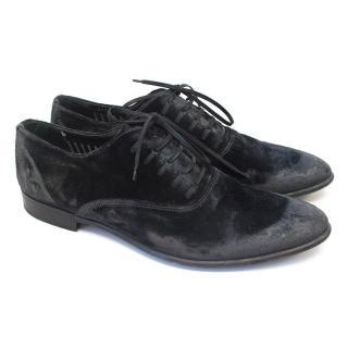 Dolce & Gabbana velvet gray shoes