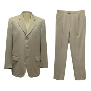 Corneliani Taupe wool two-piece suit