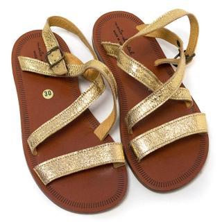 Marie Chantal girl's gold sandals