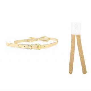 Gold leggings and belt