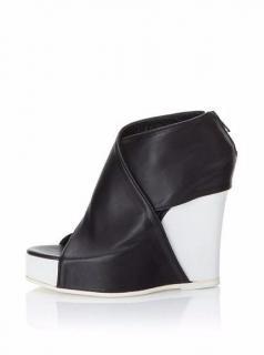 Ann Demeulemeester B/W Wedge Shoes