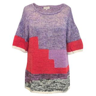 Etro purple knit jumper